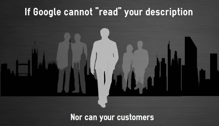 Why Google like a good small businesses description